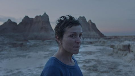 "Frances McDormand competes for another Golden Globe in her stellar performance in ""Nomadland."" The film"