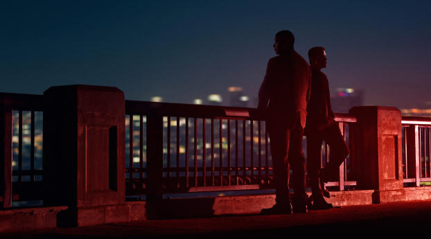Still of Denzel Washington and Rami Malek in John Lee Hancock's newest thriller