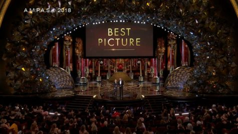 A photo from the end of the 2018 Academy Awards during the presentation of the award for Best Picture. (ABC)