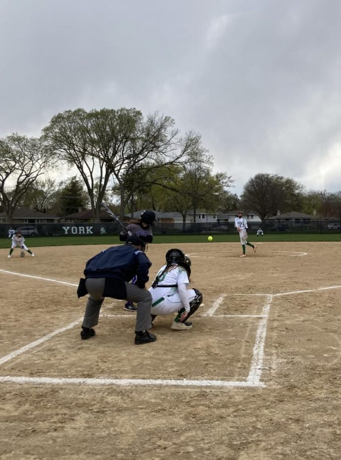 York Softball wins home opener 8-0 against Downers Grove North on Wednesday at Bryan Middle School Field. Although our season was cut short by a month, weve been practicing constantly to sharpen our skills for this season, junior Emily Fujiwara said. Practicing with friends and our coaches has really helped us prepare for the season, and I think that really showed in this game.