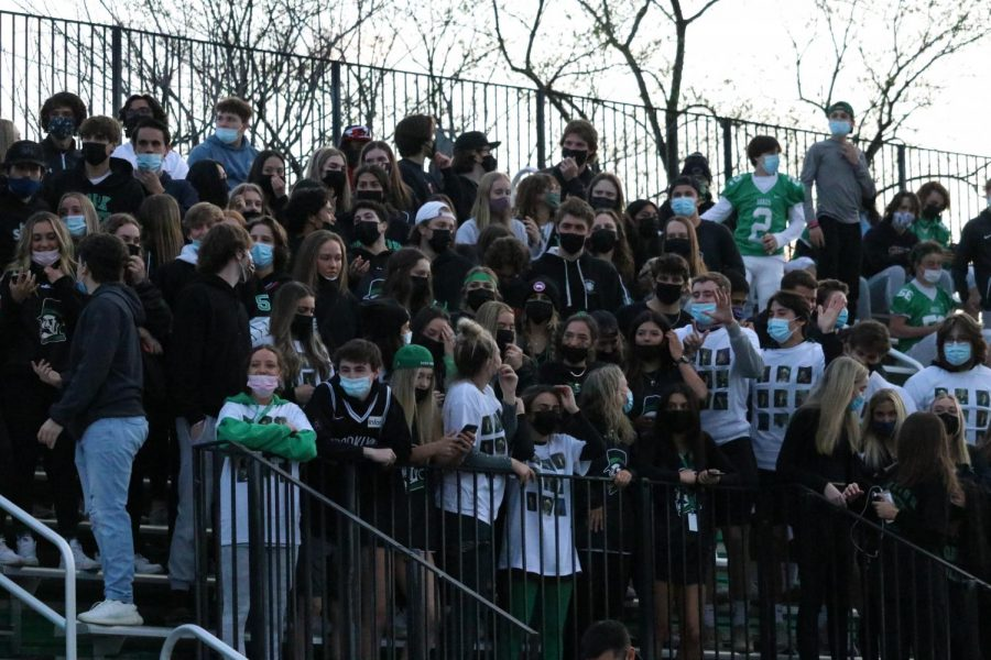 Some form of normalcy was felt by students who were allowed to attend the football game against Willowbrook with their tickets. The game ended in a victory for the Dukes and the excitement was felt throughout the stands despite the noticeably smaller crowd than the football team was used to.