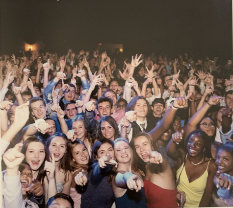 Students gather for a group photo during Homecoming 2019, not knowing it will be the last one for some time. September 21, 2019.
