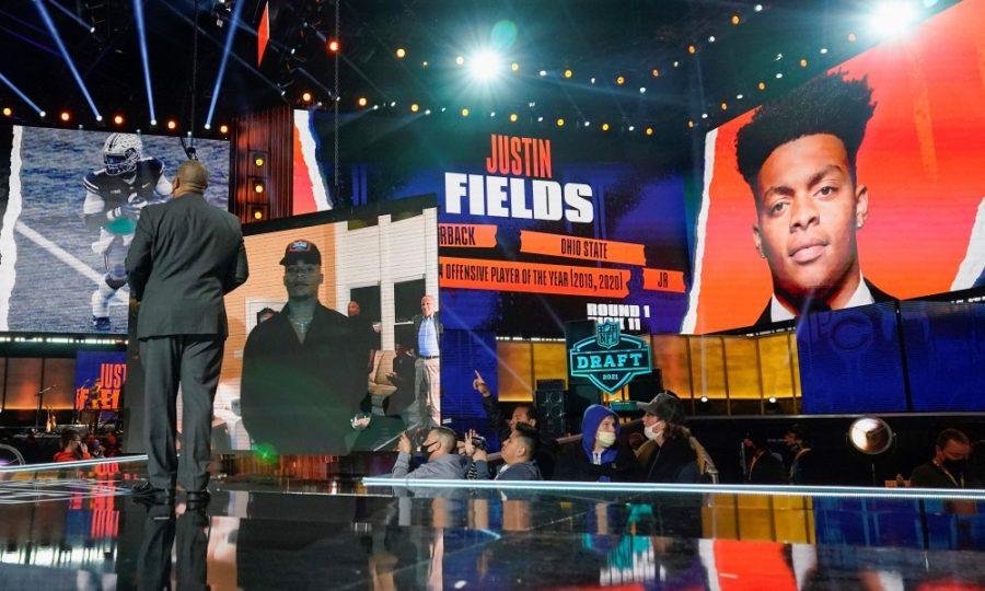 Justin Fields wait comes to an end, as the former Ohio State Buckeye takes his next step to the NFL in the Navy and Orange.