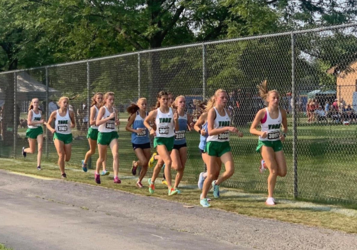 A group of seven York girls dominate at the Lake Park  Invite.