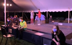 Actors practice their performance during a dress rehearsal to prepare for opening night, October 14th.