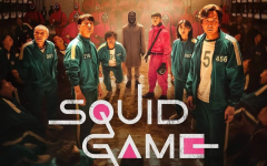 Promotional material for the new hit Netflix show, Squid Game. The series was produced in South Korea before becoming popular internationally.